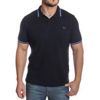 Fred Perry - Polo homme M3600 slim fit noir logo bleu