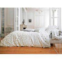 Blanc des Vosges - Housse de couette percale de coton fleur marguerite blanc Echappes Belles - 240x220cmNC