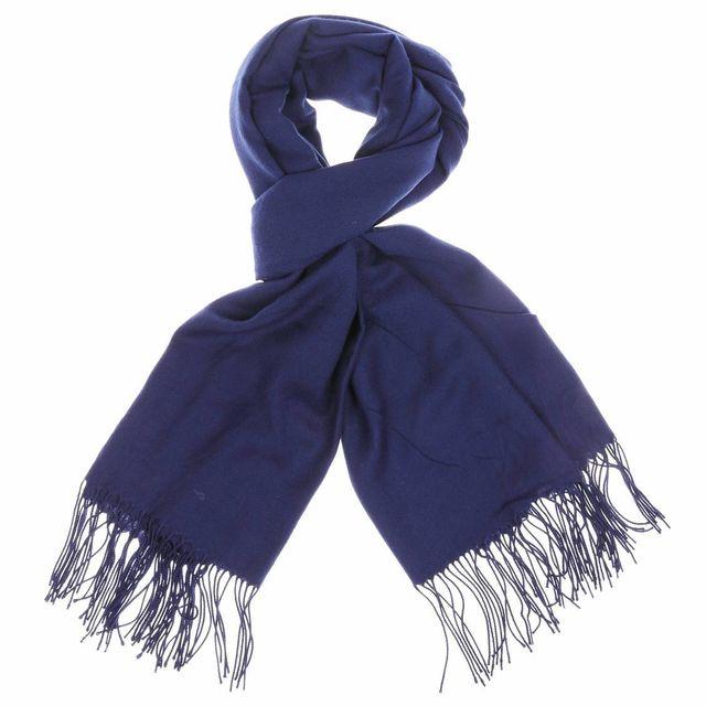 Touche Finale - Pashmina Bleu marine - pas cher Achat   Vente Echarpes,  foulards - RueDuCommerce ce1c03ad816