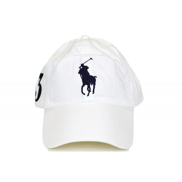cd104d53f082 Ralph Lauren - Casquette Big Poney blanche pour homme - pas cher Achat    Vente Casquettes, bonnets, chapeaux - RueDuCommerce