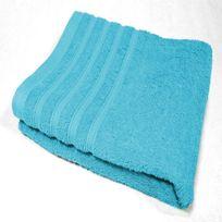 Decoline - Serviette de toilette 90 x 150 cm bleu turquoise
