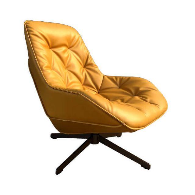 Mathi Design Fauteuil Lounge Trek Jaune