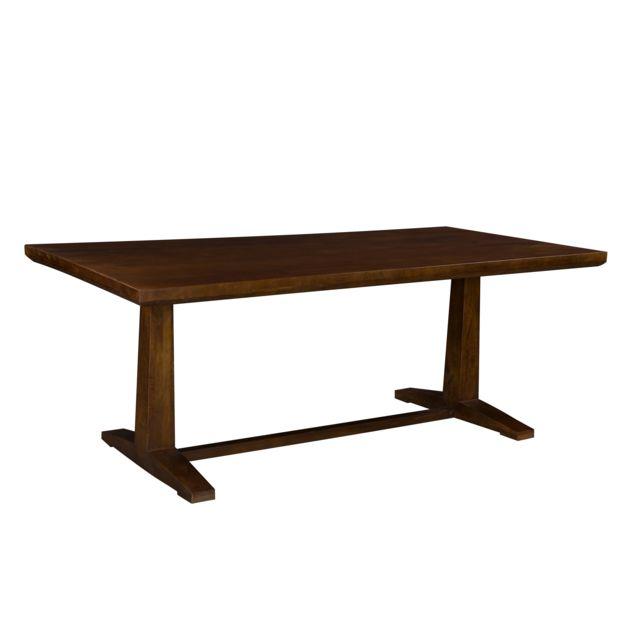 Rendez Vous Deco Table rectangulaire Tagada 200cm en bois massif