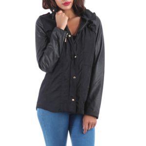 Manteau leger noir femme