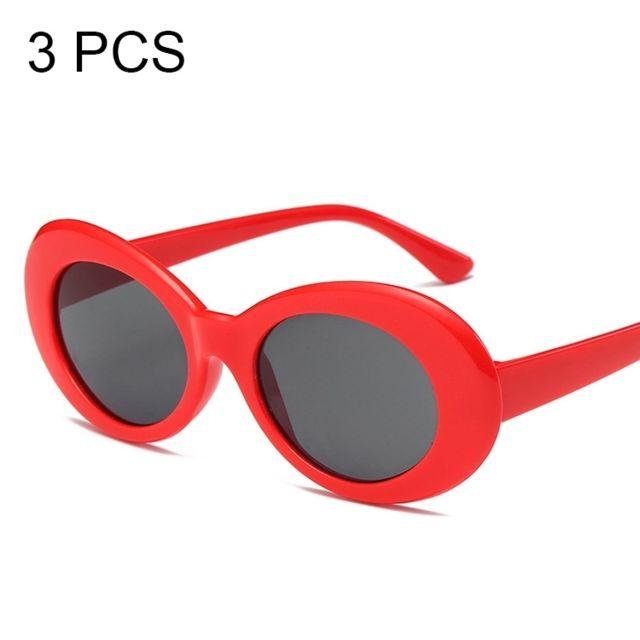 premier taux prix imbattable matériau sélectionné Lunettes de soleil pour les femmes des hommes, couleur aléatoire 3 Pcs  Vintage Color Lens Uv400 lunettes de