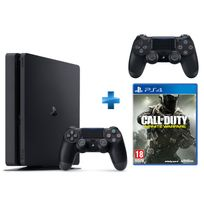 SONY - PS4 500Go Chassis D NR SLIM + Dual Shock 4 - V2 - NOIRE + Call Of Duty Infinite Warfare - PS4