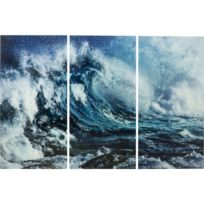 Karedesign - Tableaux en verre Triptychon Wave 160x240cm set de 3 Kare Design