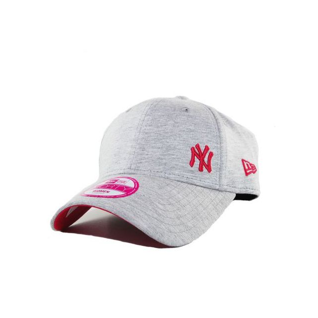 e18636da92fd4a New Era Cap - Casquette Femme New Era Ny Yankees Gris Flawless 9Forty