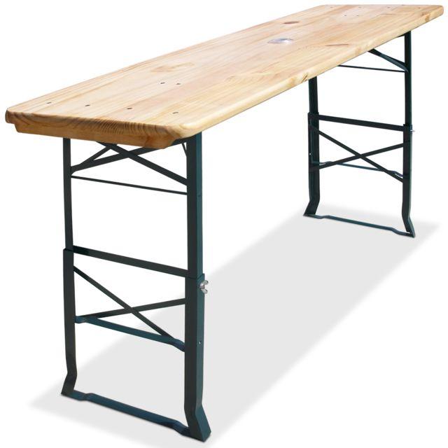 Rocambolesk - Superbe Table haute pliable - hauteur réglable - 180cm ...