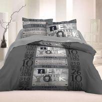 Fil Blanc - Parure de lit 4 pièces 100% coton 57fils Factory