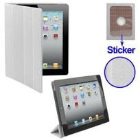 Yonis - Smart cover iPad 2 sticker protection support blanc