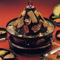 chapeau tartare électrique + raclette 4 poêlons 1200w - electro