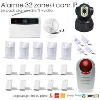 SecuriteGOODdeal - Kit alarme 32 Zones Xxxl Box et camera Ip