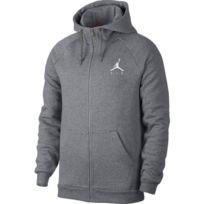 db558d15ffe60 Jordan - sweat à capuche Zippé Jumpman Fleece Gris pour homme Taille - S