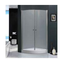 Rocambolesk - Magnifique paroi de douche luxe relaxpowa: l 90 x l 90 x h 196 cm, receveur inclus, structure en aluminium haute qualité