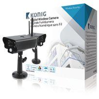 König - Caméra sans fil 2.4 Ghz Extérieur Vga Noir