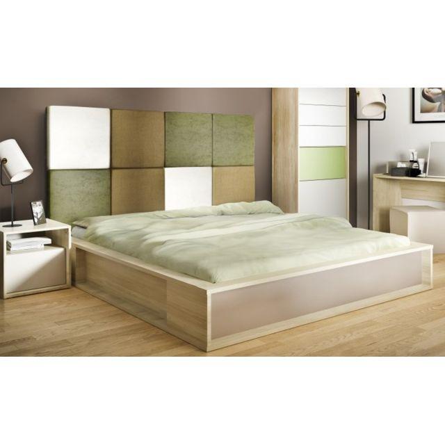 vox lit double contemporain a tete de lit. Black Bedroom Furniture Sets. Home Design Ideas