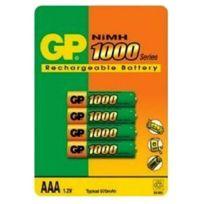 Gp Batteries - Gp - Gp - Blister de 4 Piles type Aaa Ni-MH 1000 mAh