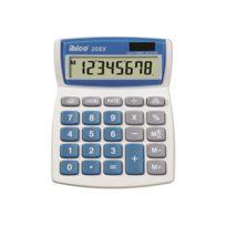 Ibico Calcul - Rexel Ibico 208X - Desktop-Taschenrechner - 8 Stellen - Solarpanel, Batterie - weiß, Blau