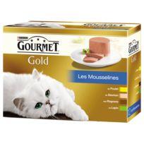 Gourmet - Boîte Gold Les Mousselines pour Chat - 12x85g
