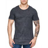 Freeside - Tee shirt long cintré 16108 Noir