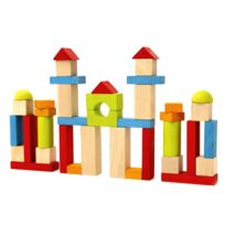 Jeujura - Blocs de construction : 40 pièces en bois