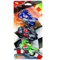 Kim'Play - 4520 - VÉHICULE Miniature - 3 X Moto De Course