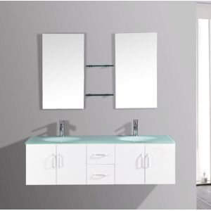 Concept usine ensemble meuble salle de bain 39 gaia b 39 2 for Ensemble salle de bain double vasque pas cher