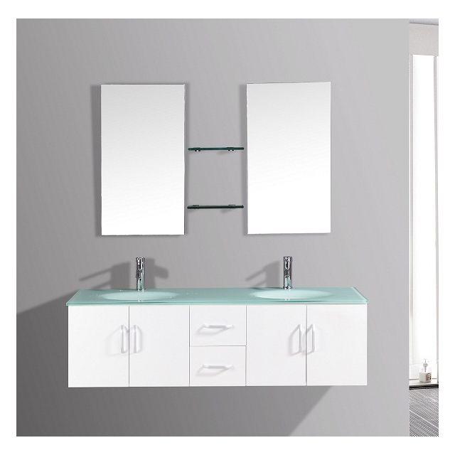 Meuble salle de bain double vasque - Achat/Vente Meuble salle de ...