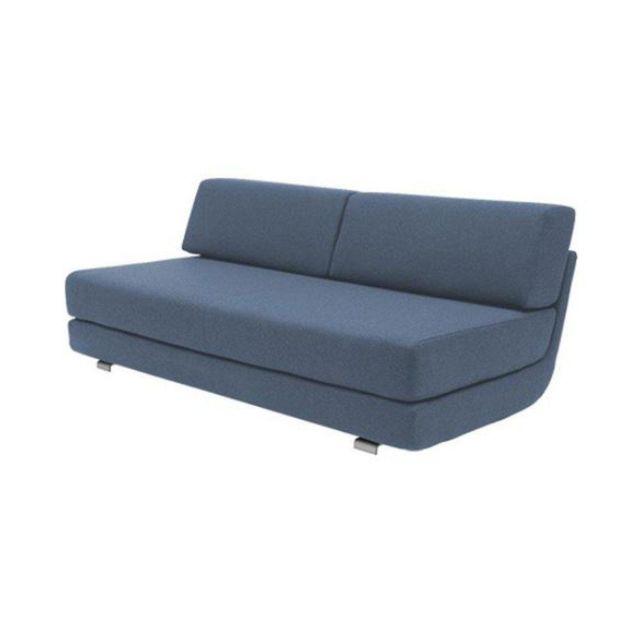 Inside 75 Module convertible Lounge 3 places en tissu bleu couchage 160 198cm