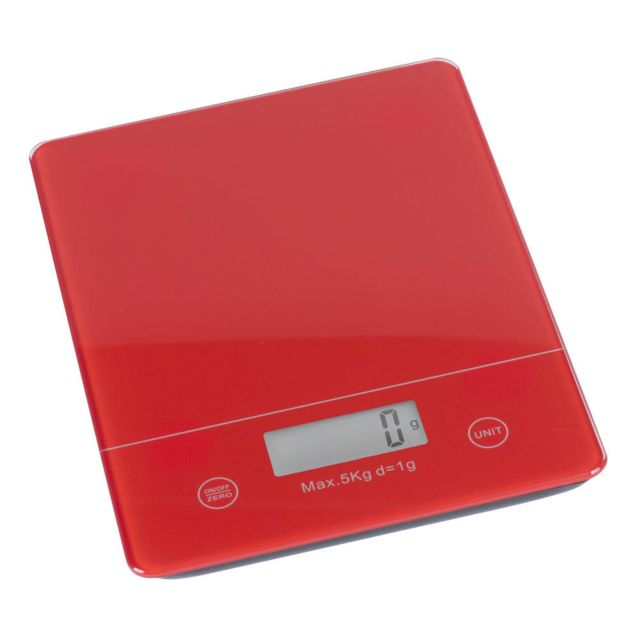 TREND UP - TREND'UP - BALANCE ELECTRONIQUE ROUGE 18.2 X 14.2 CM . 5 KG /1GR . ECRAN LCD - P ILES FOURNIES