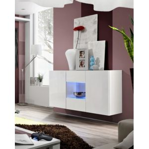 asm mdlt buffet suspendu mural fly blanc de haute. Black Bedroom Furniture Sets. Home Design Ideas