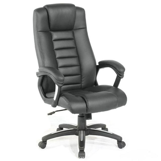 Helloshop26 fauteuil de bureau chaise si ge classique ergonomique confortable noir 0508003 - Siege bureau confortable ...