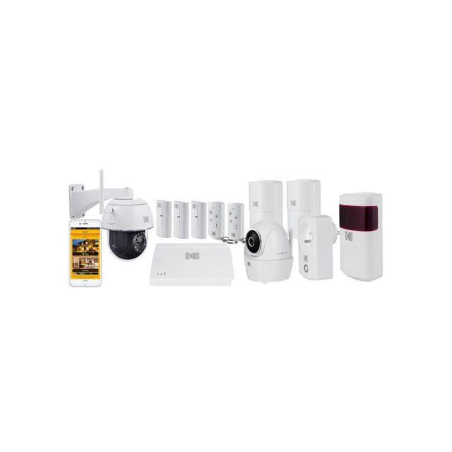 kodak systeme d 39 alarme maison sans fil avec 2 cam ras de surveillance full protection pas. Black Bedroom Furniture Sets. Home Design Ideas