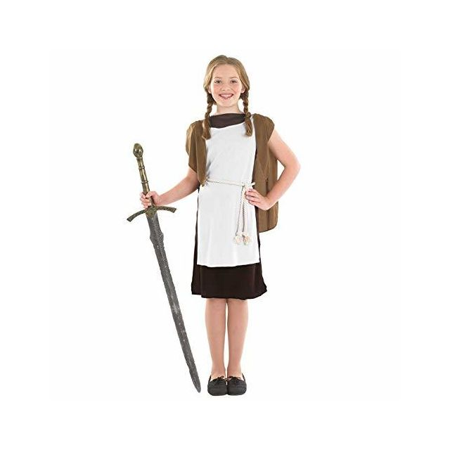 Fun Shack Girls Viking Costume Childrens Historical Norse Warrior Medieval Outfit - X-large