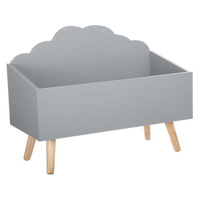 ATMOSPHERA - Coffre à jouets nuage gris en bois