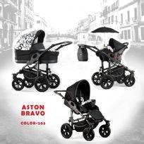 Autre - Poussette trio Aston Bravo sonatto châssis noir roue carrera black