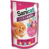 Sanicat - Litiere agglomérante au parfum floral 6L - Rose - Pour chat