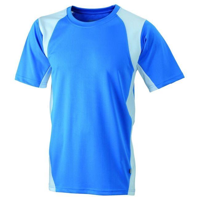 2179614e2af69 James   Nicholson - t-shirt running respirant Jn306 - bleu roi et blanc -