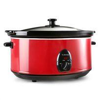 KLARSTEIN - Bristol 65 Mijoteuse cocotte 6,5 Litres cuisson lente 300W - rouge