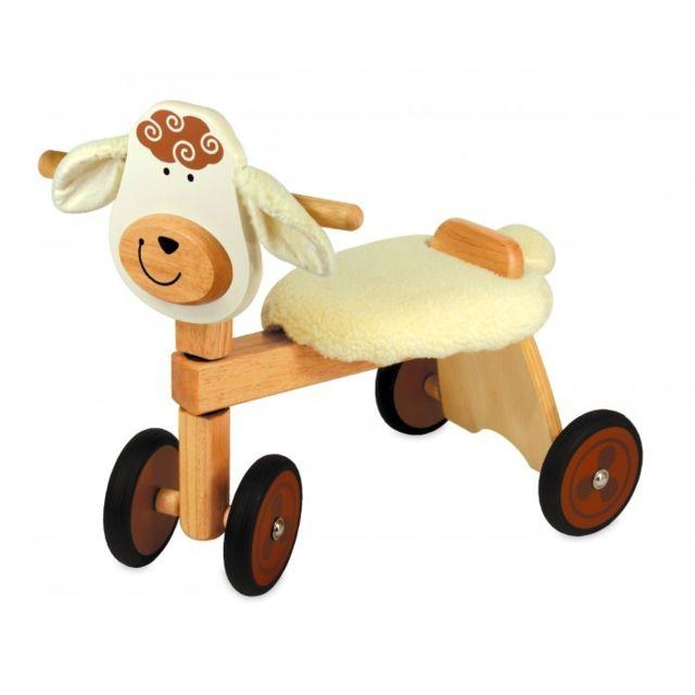 I M Toy - Porteur Vélo 4 roues en bois Mouton