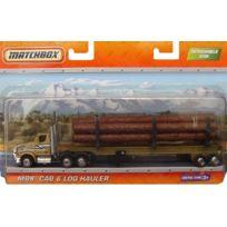 Matchbox - Mbx Cab Log Hauler - Camion A Bois 23Cm De Long - Mattel