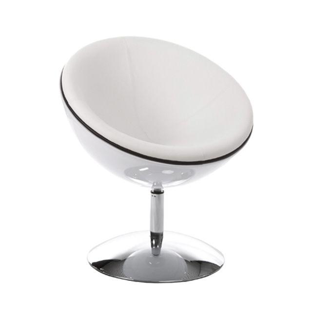 Marque Generique Fauteuil design 60x70x78cm Spherea - blanc