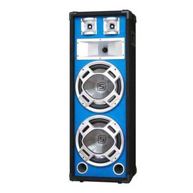 SKYTEC Enceinte Sono PA 2 x 25CM 800W avec LED bleues
