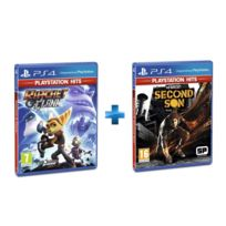 SONY - 2 jeux PS4 HITS : RATCHET & CLANK + INFAMOUS SECOND SON