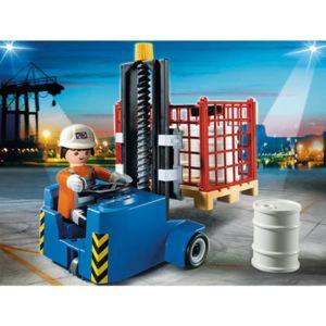 Playmobil - 5257-Elévateur avec ouvrier
