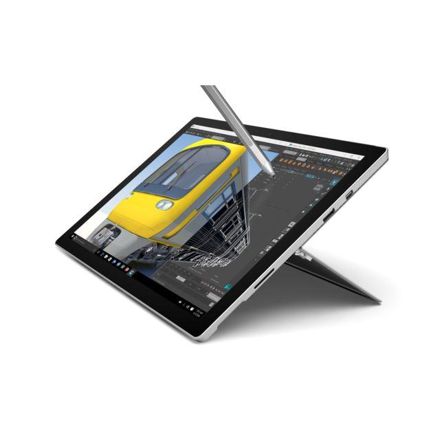 MICROSOFT - Surface Pro 4 - 2-en-1 - 128 Go - Intel Core m3 - Argent + Clavier Type Cover Noir
