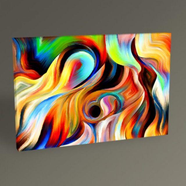 Homense - Tableau Peinture Abstraite Multicolore