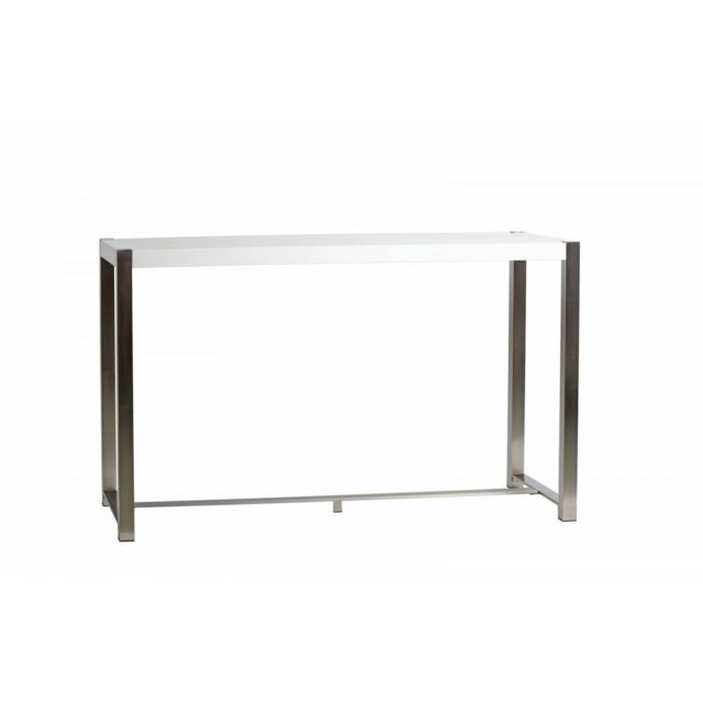Bobochic Table de bar Mirka Blanc 160 x 60