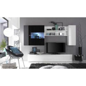 Inside 75   Composition Murale Tv Design Primera Noir Et Blanc